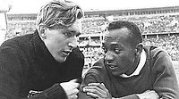 BNPS.co.uk (01202) 558833. <br /> Pic: Pen&Sword/BNPS<br /> <br /> Pictured: Luz Long, left, and Jesse Owens became friends after the 1936 Olympic Games. <br /> <br /> The tragic stories of almost 500 Olympians who were killed during World War Two have been revealed in a new book.<br /> <br /> While this year's Tokyo Olympics competitors are producing extraordinary feats in the sporting arena, these fallen Olympians displayed heroism of a different kind.<br /> <br /> Dozens died carrying out acts of gallantry in major battles including D-Day, while almost 60 Jewish participants perished in concentration camps during the Holocaust.