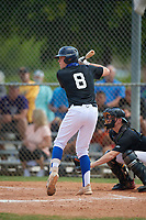 Sam McNulty (8) during the WWBA World Championship at Terry Park on October 9, 2020 in Fort Myers, Florida.  Sam McNulty, a resident of Cambridge, Massachusetts who attends Milton Academy, is committed to Boston College.  (Mike Janes/Four Seam Images)