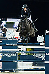 Reed Kessler of the USA riding Tradition de la Roque competes in the Hong Kong Jockey Club Trophy during the Longines Masters of Hong Kong at the Asia World Expo on 09 February 2018, in Hong Kong, Hong Kong. Photo by Diego Gonzalez / Power Sport Images