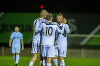 Monday  19 December 2014<br /> Pictured: George Byers of Swansea City Celebrates his goal with team mates <br /> Re: Swansea City U23 v Middlesbrough u23 at the Landore Training Facility, Swansea, Wales, UK