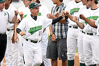 September 9 2008:  Coach Joe Rodriguez of the Jamestown Jammers, Class-A affiliate of the Florida Marlins, during a game at Russell Diethrick Park in Jamestown, NY.  Photo by:  Mike Janes/Four Seam Images