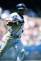 Tony Womack of the Arizona Diamondbacks runs the bases during a 1999 season Major League Baseball game against the Los Angeles Dodgers at Dodger Stadium in Los Angeles, California. (Larry Goren/Four Seam Images)