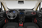 Stock photo of straight dashboard view of 2019 JEEP Renegade Trailhawk 5 Door SUV Dashboard