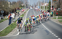 high speed (lined out) peloton from the start, so that nobody could escape in the first 70+ km's <br /> <br /> 100th Ronde van Vlaanderen 2016