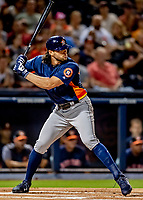 23 February 2019: Houston Astros outfielder Jake Marisnick leads off the game with a solo home run against the Washington Nationals during a Spring Training game at the Ballpark of the Palm Beaches in West Palm Beach, Florida. The Nationals rallied to walk off with a 7-6 Grapefruit League Opening Game win to start the pre-season. Mandatory Credit: Ed Wolfstein Photo *** RAW (NEF) Image File Available ***