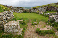 Northumberland,  England, UK.  Entrance to Milecastle 37 with Remains of Arch over Gateway opening to the North.