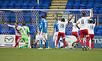 St Johnstone v Kilmarnock…15.10.16.. McDiarmid Park   SPFL<br />Scott Boyd scores Kilmarnock's goal<br />Picture by Graeme Hart.<br />Copyright Perthshire Picture Agency<br />Tel: 01738 623350  Mobile: 07990 594431