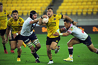 Hurricanes' Wes Goosen in action during the Super Rugby Tran-Tasman match between the Hurricanes and Rebels at Sky Stadium in Wellington, New Zealand on Friday, 21 May 2020. Photo: Dave Lintott / lintottphoto.co.nz