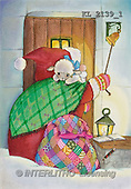Interlitho, Soledad, CHRISTMAS CHILDREN, naive, paintings, santa, sheep(KL2139/1,#XK#) Weihnachten, Navidad, illustrations, pinturas