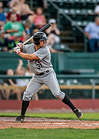 21 July 2019: Tri-City ValleyCat outfielder Preston Pavlica in action against the Vermont Lake Monsters at Centennial Field in Burlington, Vermont. The Lake Monsters rallied to defeat the ValleyCats 6-3 in NY Penn League play. Mandatory Credit: Ed Wolfstein Photo *** RAW (NEF) Image File Available ***