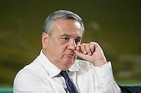 Il Ministro per il Lavoro Maurizio Sacconi.Coldiretti - Assemblea Nazionale 2010..Roma, 2 Luglio 2010..Photo Serena Cremaschi Insidefoto