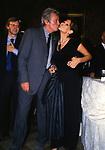 """CLAUDIA CARDINALE CON ALAIN DELON, SULLO SFONDO VITTORIO SGARBI<br /> """"DONNA SOTTO LE STELLE"""" VILLA MEDICI ROMA 2002"""