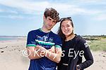 Enjoying a stroll in Derrymore beach on Saturday, l to r: Mark Storan and Emma O'Brien