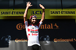 Thomas De Gendt (BEL) Lotto-Soudal wins Stage 8 of the 2019 Tour de France running 200km from Macon to Saint-Etienne, France. 13th July 2019.<br /> Picture: ASO/Alex Broadway   Cyclefile<br /> All photos usage must carry mandatory copyright credit (© Cyclefile   ASO/Alex Broadway)