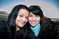 Pictured L-R: Movie lovers Tiia Ohman and Satu Walden<br />