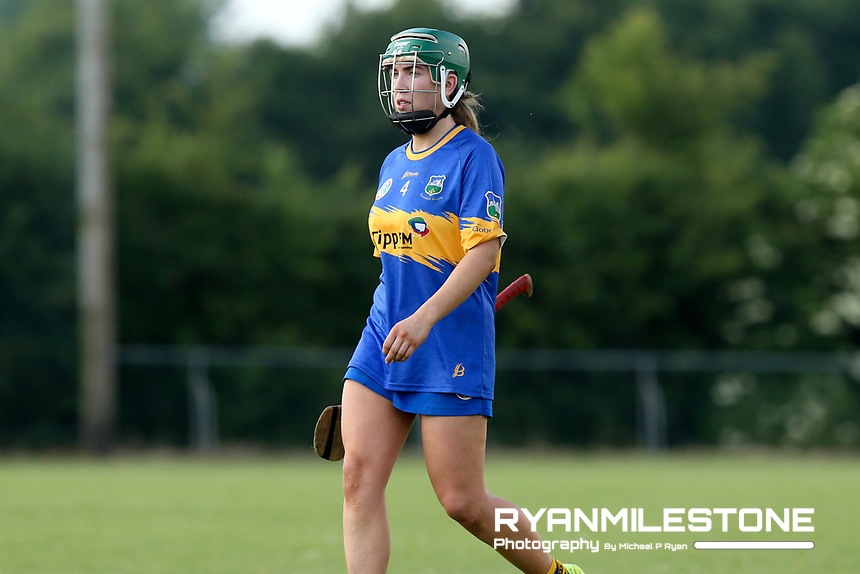 Tipperary's Clodagh Quirke at the end of the Liberty Insurance All Ireland Senior Camogie Championship Round 1 between Tipperary and Meath at the Ragg, Co Tipperary. Photo By Michael P Ryan.