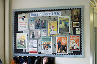 State Primary School.  Project work on the board.
