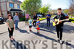 Seamus Harty ready to entertain his neighbours on Saturday.<br /> Front left: Seamus Harty.<br /> Back Standing l to r: Gabrielle Brown, Jack and Harry Eggleston,  Roger and Conor Harty, Evonne Eggleston and Derry Butler with Bailey the dog.