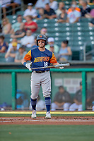 Mark Payton (16) of the Las Vegas Aviators at bat against the Salt Lake Bees at Smith's Ballpark on July 20, 2019 in Salt Lake City, Utah. The Aviators defeated the Bees 8-5. (Stephen Smith/Four Seam Images)