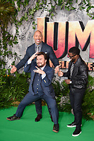 "Jack Black, Dwayne Johnson and Kevin Hart<br /> arriving for the ""Jumanji: Welcome to the Jungle"" premiere at the Vue West End, Leicester Square, London<br /> <br /> <br /> ©Ash Knotek  D3358  07/12/2017"