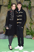 """Hannah Bagshawe and Eddie Redmayne<br /> arriving for the """"Early Man"""" world premiere at the IMAX, South Bank, London<br /> <br /> <br /> ©Ash Knotek  D3369  14/01/2018"""