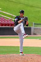 Lansing Lugnuts pitcher Brody Rodning (32) on the mound during a Midwest League game against the Wisconsin Timber Rattlers on May 8, 2018 at Fox Cities Stadium in Appleton, Wisconsin. Lansing defeated Wisconsin 11-4. (Brad Krause/Four Seam Images)