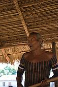Pará State, Brazil. Aldeia Kokraimoro (Kayapo). Megaron Kayapo.
