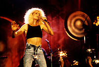 FILE PHOTO  -  Marjolaine Morin<br />  aka Marjo in concert at the Spectrum, in 1987<br />  Photo : Agence Quebec Presse