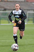 Valentine Hannecart 8) of Eendrcht Aalst  pictured during a female soccer game between SV Zulte - Waregem and Eendracht Aalst on the 9 th matchday in play off 2 of the 2020 - 2021 season of Belgian Scooore Womens Super League , saturday 22 nd of May 2021  in Zulte , Belgium . PHOTO SPORTPIX.BE | SPP | DIRK VUYLSTEKE