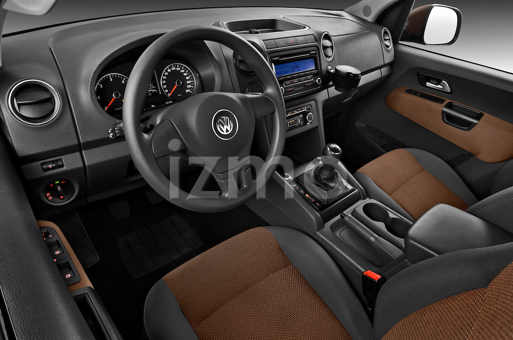 High angle dashboard view of a 2012 Volkswagen Amarok Trendline Truck