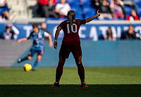 HARRISON, NJ - MARCH 08: Jordan Nobbs #10 of England yells to her teammates during a game between England and Japan at Red Bull Arena on March 08, 2020 in Harrison, New Jersey.