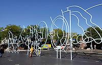 Nederland  Nijmegen  - September 2020 .   Kunstwerk van Narcisse Tordoir bij Kelfkensbos.  Foto : ANP/ Hollandse Hoogte / Berlinda van Dam
