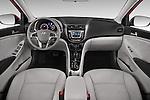 Stock photo of straight dashboard view of a 2015 Hyundai Accent GLS 4-Door 6-Speed Automatic 2 Door Sedan Dashboard