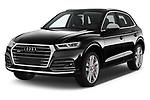 2018 Audi SQ5 Base 5 Door SUV angular front stock photos of front three quarter view