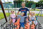 Juliette, Grace, Leo and Victor Morkan from Listowel enjoying the afternoon in the playground in Listowel on Monday