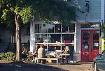 Port Townsend, Pane d' Amore, Artisan Bakery, Uptown neighborhood, Washington State, breakfast crowd, morning,