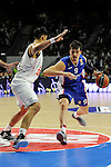 Real Madrid´s - and Anadolu Efes´s - during 2014-15 Euroleague Basketball Playoffs second match between Real Madrid and Anadolu Efes at Palacio de los Deportes stadium in Madrid, Spain. April 17, 2015. (ALTERPHOTOS/Luis Fernandez)