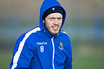 St Johnstone Training…….Murray Davidson pictured during training at McDiarmid Park ahead of tomorrow's SPFL fixture against Livingston.<br />Picture by Graeme Hart.<br />Copyright Perthshire Picture Agency<br />Tel: 01738 623350  Mobile: 07990 594431