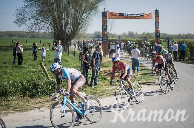 Dylan Groenewegen (NED/LottoNL-Jumbo) exiting sector 16: Warlaing to Brillon<br /> <br /> 115th Paris-Roubaix 2017 (1.UWT)<br /> One Day Race: Compiègne › Roubaix (257km)