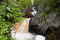 """""""Cascade River Waterfalls""""<br /> <br /> The Cascade River gracefully rushes through the gorge and over a series of waterfalls on its journey to Lake Superior."""