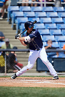 Binghamton Rumble Ponies first baseman Peter Alonso (16) at bat during a game against the Altoona Curve on June 14, 2018 at NYSEG Stadium in Binghamton, New York.  Altoona defeated Binghamton 9-2.  (Mike Janes/Four Seam Images)