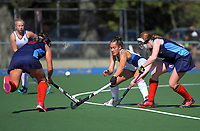 2020 Lower North Island Secondary Schools Hockey Girls Premiership tournament 3rd place playoff between Napier Girls' High School and New Plymouth Girls' High School at Fitzherbert Park Twin Turfs in Palmerston North, New Zealand on Friday, 4 September 2020. Photo: Dave Lintott / lintottphoto.co.nz
