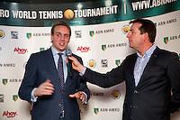 Rotterdam, Netherlands, Januari 06, 2016,  Press conference ABNAMROWTT, Joris Hermsen is being interviewd by Edward van Cuilenborg, <br /> Photo: Tennisimages/Henk Koster