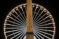 Europe/France/Ile-de-France/75001/Paris : Obélisque  de Louqsor et La Grande Roue Place de La Concorde
