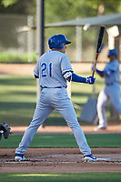 AZL Royals Darryl Collins (21) at bat during an Arizona League game against the AZL White Sox at Camelback Ranch on June 19, 2019 in Glendale, Arizona. AZL White Sox defeated AZL Royals 4-2. (Zachary Lucy/Four Seam Images)