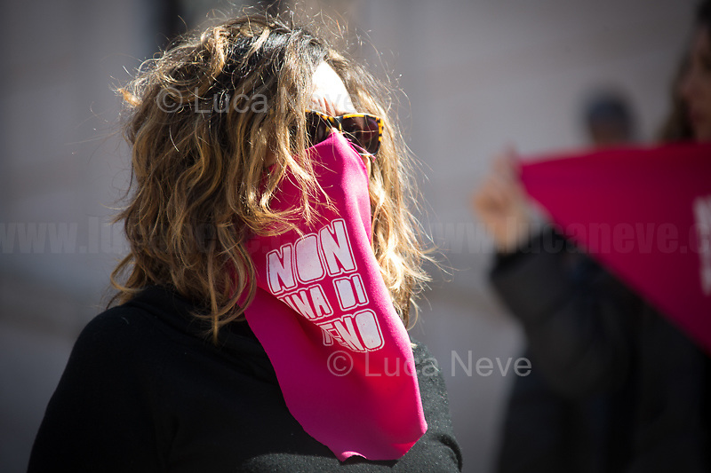"""Rome, 08/03/2020. Today, """"NonUnaDiMeno"""" (Not One Woman Less) held the a flash mob (1.) on the globally famous Spanish Steps of Piazza di Spagna in Rome. Given, the Coronavirus (SARS-CoV-2 – infection: COVID-19) epidemic Emergency the planned flash mob of the the song-performance """"Un violador en tu camino"""" of the Chilean feminist group Las Tesis (2.) was postponed to when the crisis is contained and hopefully the virus defeated. The aim of the transfemminist flash mob was to mark the 8 of March, International Women's Day, to protest gender-based, economic and racial violence against women, feminicides (Femminicidio), against patriarchy, to be supporting abortion's rights (via protecting the Legge 194 - Law 194, 3.) and self-determination.<br /> <br /> Footnotes & Links:<br /> 1. http://bit.do/fyCSX<br /> 2. 07.12.2019 Un Violador En Tu Camino - Rome's Flash Mob #UnVioladorEnTu Camino http://bit.do/fyCTg<br /> 3. (Source Wikipedia.org) https://bit.ly/2TEbdKp<br /> https://nonunadimeno.wordpress.com/ & https://www.facebook.com/nonunadimeno/<br /> 08.03.2019 March:Global Strike for IDW 2019 - 8 Marzo Sciopero Globale #NoiScioperiamo http://bit.do/fyCTE"""