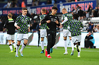 Jack Evans of Swansea City during the pre-match warm-up for the Carabao Cup Second Round match between Swansea City and Cambridge United at the Liberty Stadium in Swansea, Wales, UK. Wednesday 28, August 2019.