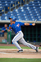 GCL Blue Jays shortstop Jesus Navarro (82) at bat during a game against the GCL Phillies on August 16, 2016 at Bright House Field in Clearwater, Florida.  GCL Blue Jays defeated GCL Phillies 2-1.  (Mike Janes/Four Seam Images)
