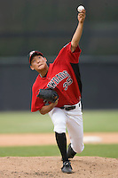 Yoon-Hee Nam #35 of the Hickory Crawdads in action versus the West Virginia Power at L.P. Frans Stadium June 21, 2009 in Hickory, North Carolina. (Photo by Brian Westerholt / Four Seam Images)