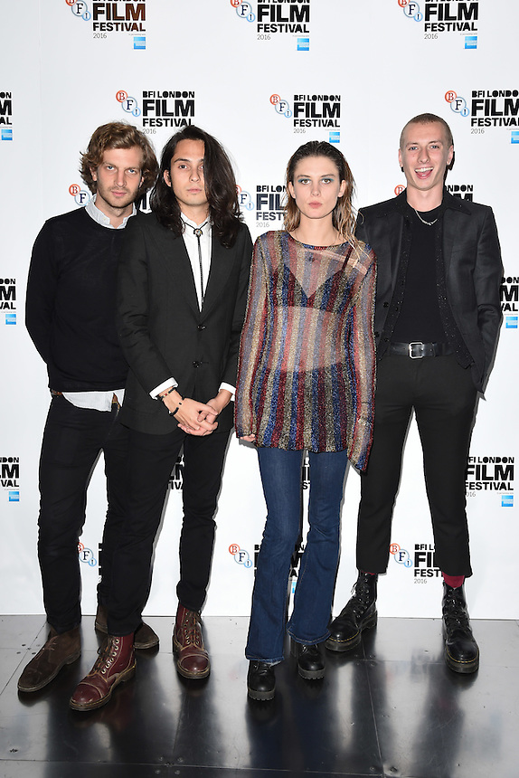 """Wolf Alice<br /> at the London Film Festival 2016 premiere of """"On the Road"""" at the BFI, South Bank, London.<br /> <br /> <br /> ©Ash Knotek  D3169  09/10/2016"""